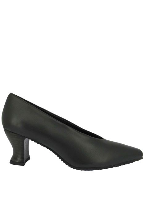 Women's Shoes Pumps Decolleté in Green Leather with Matching Leather Heel  Spatarella | Pumps | SR 11005