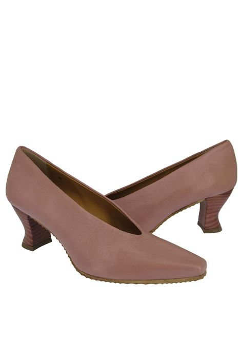 Women's Shoes Decolleté in Antique Nude Leather with Matching Leather Heel Spatarella | Pumps | SR 11300