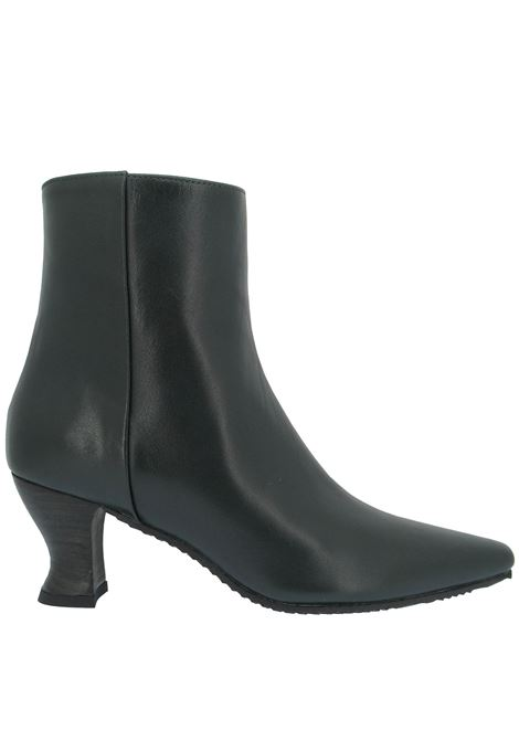 Women's Shoes Ankle Boots in Green Leather with Matching Leather Heel  Spatarella | Ankle Boots | SR 309005