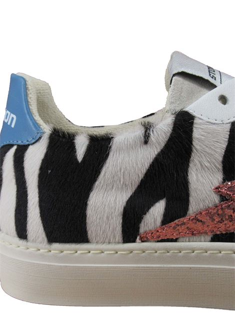 Women's Shoes Lace-up Sneakers in Black and White Zebra Print with Rubber Sole Stokton | Sneakers | BLAZE-DNIZZA
