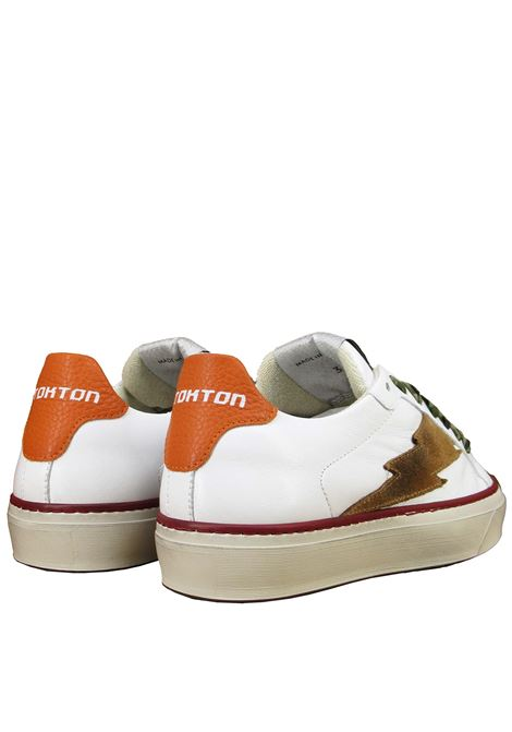 Women's Shoes Lace-up Sneakers in White Leather with Rubber Soles Stokton | Sneakers | BLAZE-DVALENCIA