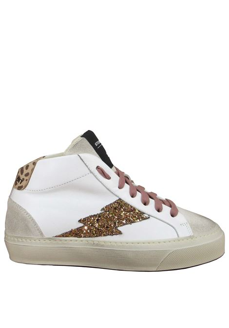 Women's Shoes Ankle Sneakers in White Leather with rubber sole Stokton | Sneakers | BOLT-D001