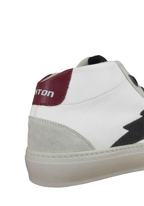 Calzature Uomo Sneakers a Stivaletto Stringate in Pelle Bianca con Fondo in Gomma Stokton | Sneakers | BOLT-U100