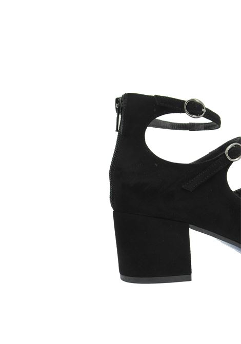 Women's Shoes Pumps Décolleté in Black Suede with Straps and Buckles Tattoo | Pumps | 523001
