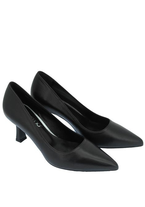 Women's Shoes Décolleté in Black Leather with Pointed Toe and High Heel Tattoo | Pumps | A 74001