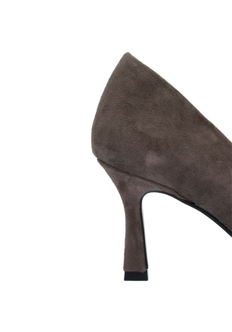 Women's Shoes Décolleté in Taupe Suede with Pointed Toe and High Heel Tattoo | Pumps | A 74015