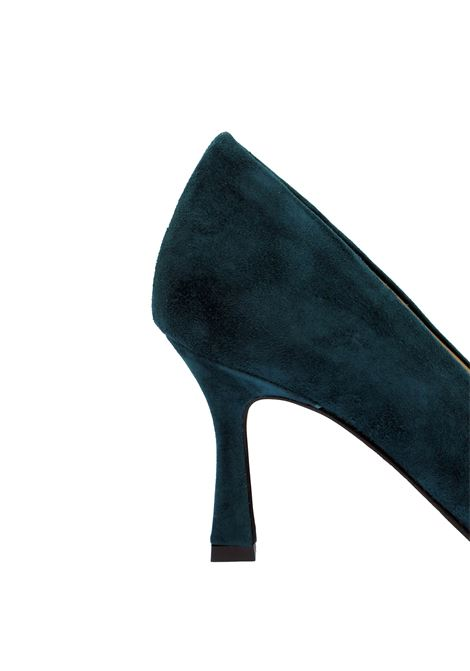 Women's Shoes Décolleté in Petrol Suede with Pointed Toe and High Heel Tattoo   Pumps   A 74032