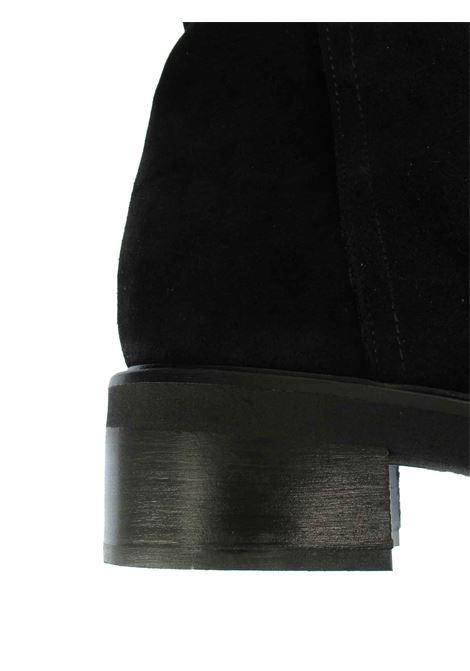 Calzature Donna Stivali Anfibi in Camoscio Vintage Nero e Fondo in Gomma Tattoo | Stivali | FIAMMA 3001