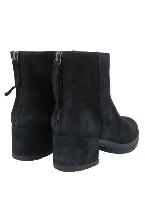 Women's Shoes Ankle Boots in Blue Suede with Back Zip Suede Heel and Rubber Platform Unisa | Ankle Boots | JAICO002