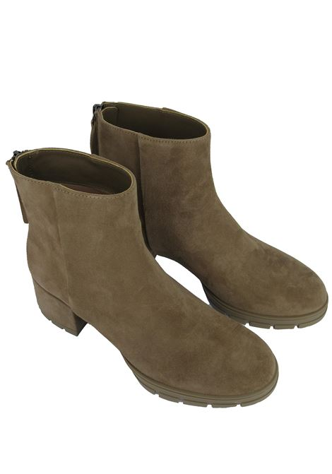 Women's Shoes Ankle Boots in Taupe Suede with Back Zip Suede Heel and Rubber Platform Unisa | Ankle Boots | JAICO023