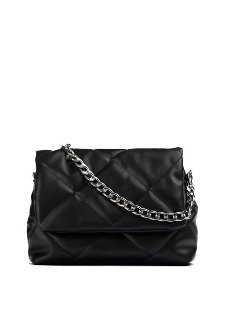 Women's Accessories Medium Handbag Kerina in Quilted Black Fabric with Shoulder Straps in Metallic Chain and Nylon  Unisa | Bags and backpacks | ZKERINA001