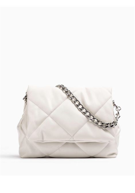 Women's Accessories Medium Handbag Kerina in Quilted Ivory Fabric with Shoulder Straps in Metallic Chain and Nylon  Unisa | Bags and backpacks | ZKERINA300