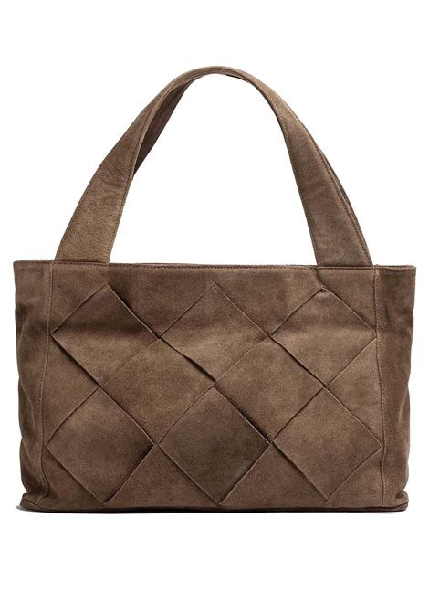 Women's Accessories Shopper Bag Nicole in Braided Tan Suede with Detachable Shoulder Strap Unisa | Bags and backpacks | ZNICOLE014