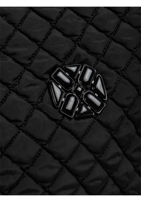 Women's Accessories Large Bag Rosella in Quilted Black Fabric with Metallic Monogram Logo and Zip Closure  Unisa | Bags and backpacks | ZROSELLA001