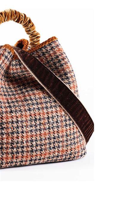 Borsa Donna a Secchiello Zermat Check in Lana Jacquard Check Manico in Velluto e Tracolla Fantasia Via Mail Bag | Borse e zaini | ZERMATC01