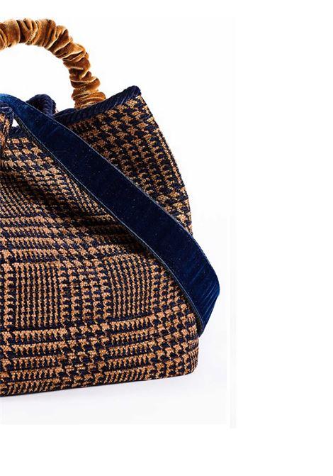 Borsa Donna a Secchiello Zermat Madras in Ciniglia Jacquard Manico in Velluto e Tracolla Fantasia Via Mail Bag | Borse e zaini | ZERMATM03