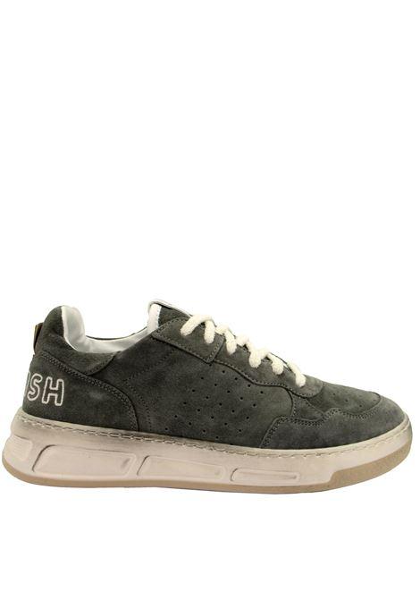 Calzature Uomo Sneakers Stringate Hyper Rain in Camoscio Fango Fondo in Gomma Bianco Vintage Womsh | Sneakers | HYPER RAIN015