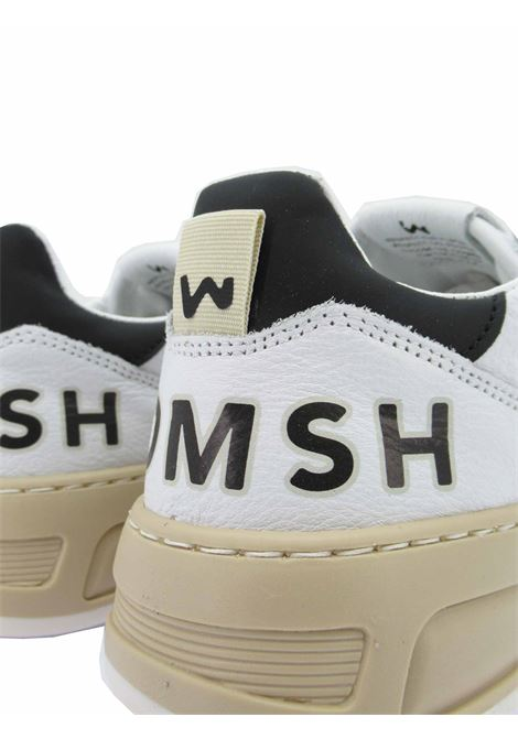 Calzature Donna Sneakers Stringate Hyper in Pelle Bianca e Camoscio Cuoio Fondo in Gomma Miele Womsh | Sneakers | HYPER006