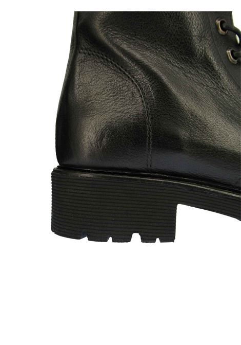 Women's Shoes Anfibi Lace-up Ankle Boots in Black Leather with Rubber Sole Tank Zoe | Ankle Boots | YORK001