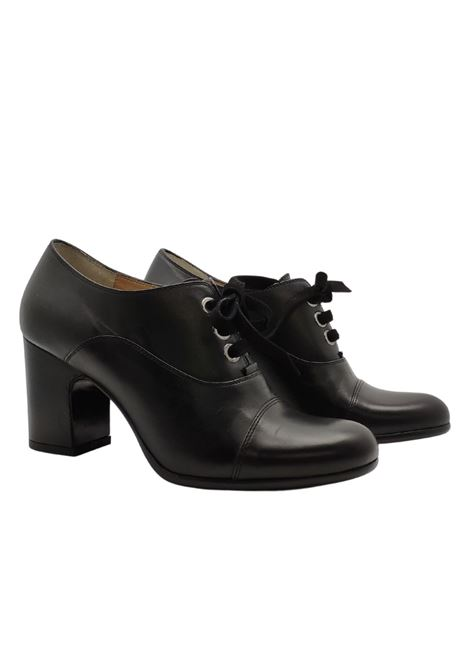 High Lace Up Woman Greige | Lace up shoes | 2590NERO
