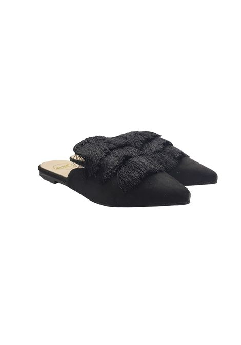 Sabot Mule Bow Woman Exe | Sandals | A9010NERO