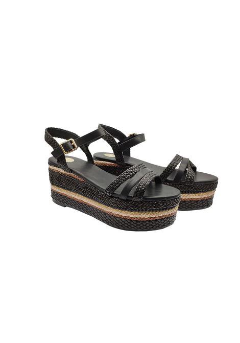 Wedge Rope Sandals Woman Exe | Sandals | BRASIL-375NERO
