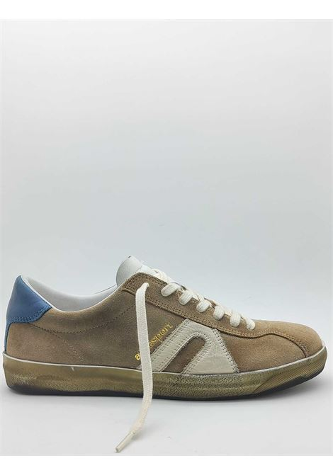 Calzature Uomo Sneakers Stringate in Camoscio Beige con Fondo Miele Vintage Atala | Sneakers | 10022015