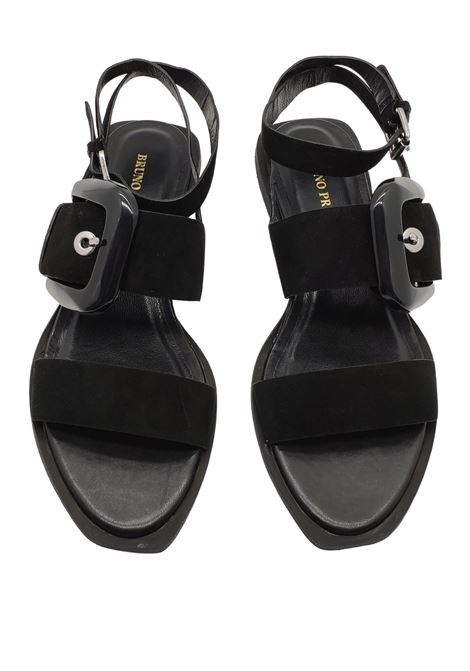 Women's Sandals Low Side Buckle Bruno Premi | Sandals | BZ0901XNERO