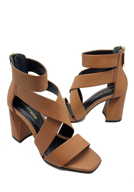 Calzature Donna Sandali in Pelle Cuoio con Cinturino alla Caviglia e Tallone Chiuso Bruno Premi   Sandali   BZ1302XCUOIO