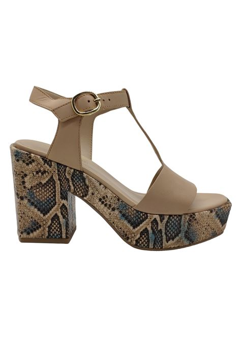 Women's Python Wedge Sandals Bruno Premi | Sandals | BZ5802XGRANO