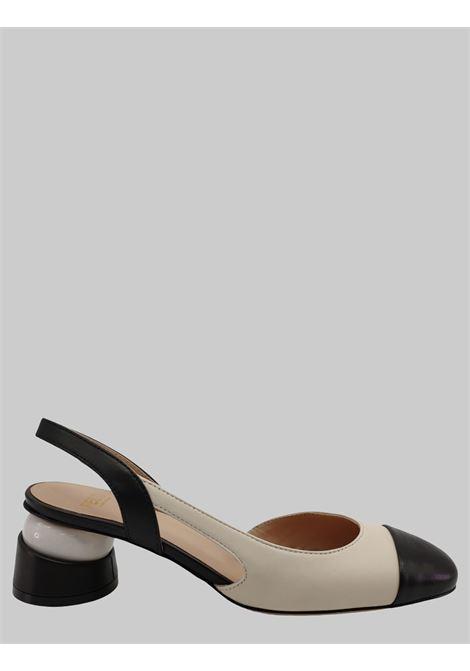 Calzature Donna Chanel Bicolore Panna e Nero con Tacco Gioiello e Cinturino Festa | Décolleté | BONEANERO/BIANCO