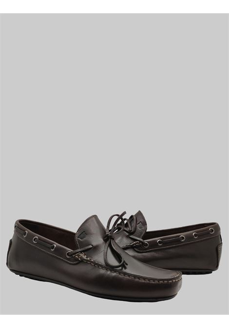 Men's Shoes Brown Leather Loafers Unlined with Rubber Studs Bottom Florsheim | Mocassins | 50256-04TESTA DI MORO
