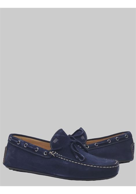 Men's Shoes Blue Suede Loafers Unlined with Rubber Studs Bottom Florsheim | Mocassins | 50256-88BLU