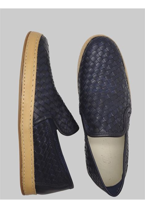 Men's Shoes Slip on Loafers in Blue Braided Leather with Rubber Bottom Florsheim | Mocassins | 51409-85BLU