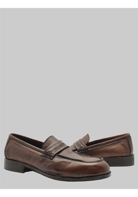 Men's Shoes Moccasins in Vintage Dark Brown Leather with Flexible Leather Bottom Florsheim | Mocassins | 52343-44MORO