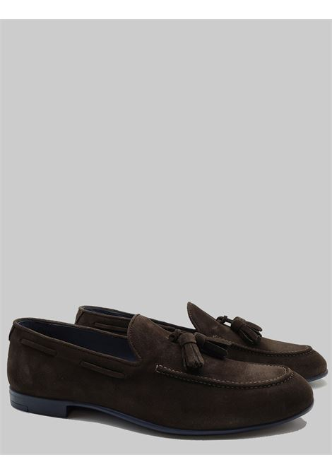 Men's Shoes Moccasins in Dark Brown Suede with Matching Bows and Rubber Bottom Florsheim | Mocassins | 52600-99MORO