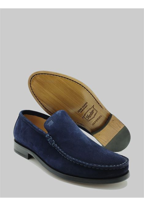 Men's Shoes Slip On Moccasins in Blue Suede with Pointed Leather Sole Florsheim | Mocassins | 52775-88BLU