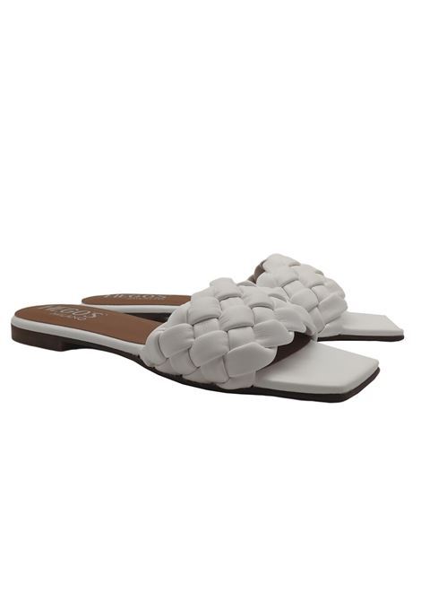 Flat Braided Sandals Woman Hegos | Sandals | 7131BIANCO