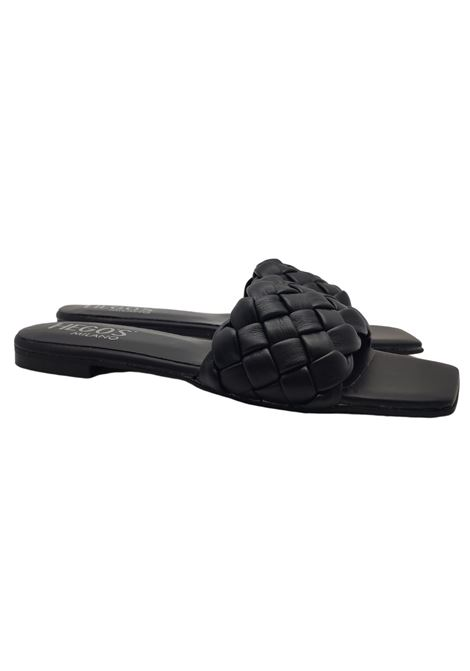 Flat Braided Sandals Woman Hegos | Sandals | 7131NERO