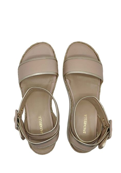 Women's Sandals Low Wedge and Strap Spatarella | Wedge Sandals | C900NUDE