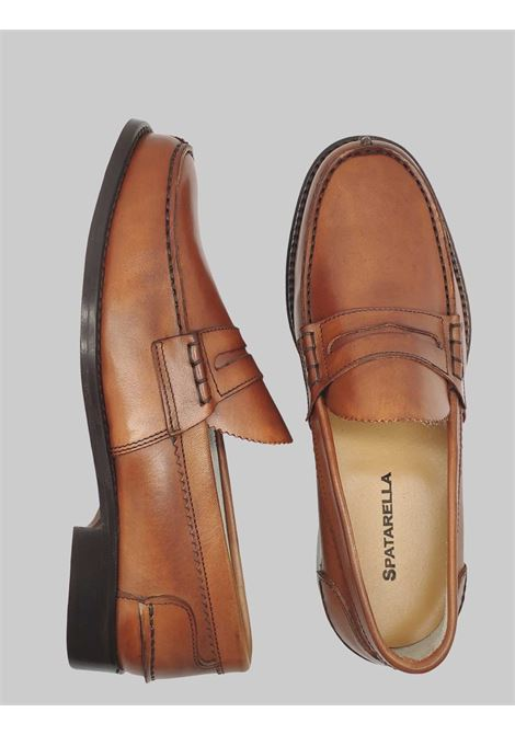 Men's Shoes Leather Moccasins with Bandage and Stitched Leather Bottom Spatarella | Mocassins | MOC SA014
