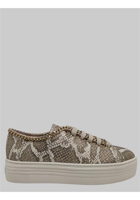 Sneaker Donna Pelle Pitonata Stokton | Sneakers | 500DPITONE TAUPE