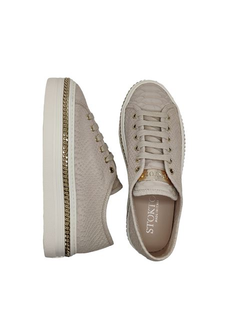 Sneakers Donna Pelle Stampa Pitone Stokton | Sneakers | 60DPITONE NUDE