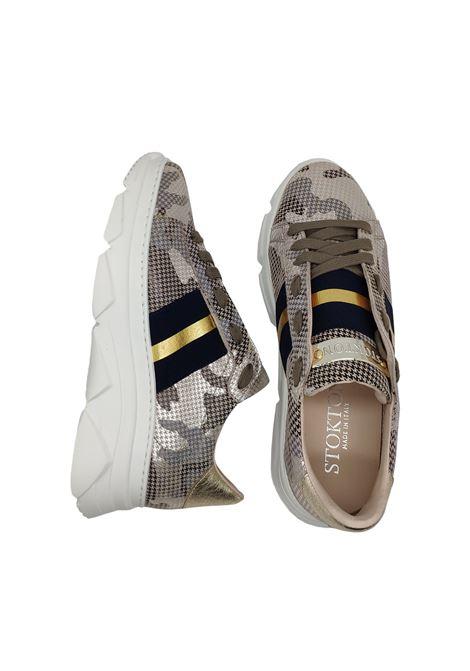 Skeankers Donna in Camoscio Pitonato Stokton | Sneakers | 650DTAUPE