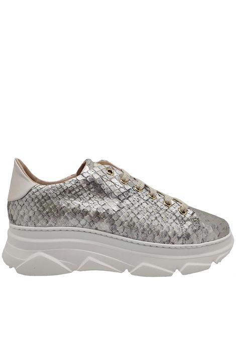 Sneakers Donna Pelle Pitonata Stokton | Sneakers | 674DARGENTO