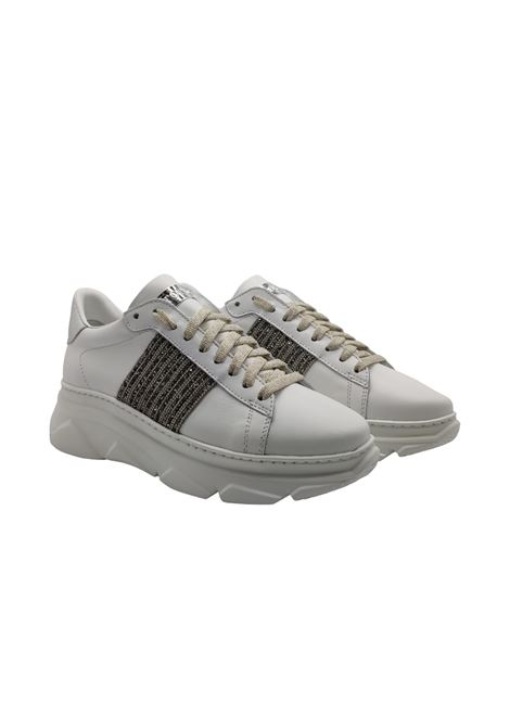 Sneakers Donna Strass in Pelle Stokton | Sneakers | 783DBIANCO