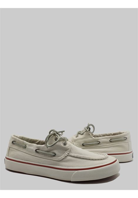 Men's Shoes Sperry Loafers with Off White Fabric Tray with Leather Laces and Rubber Sole Top Sider | Mocassins | STS22025100