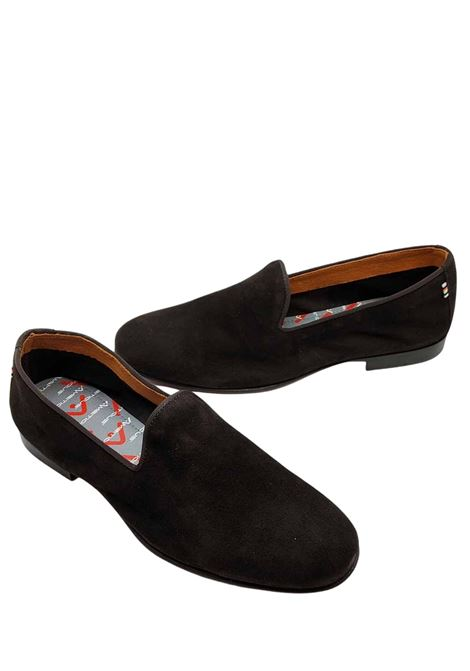 Men's Shoes Slip-on Loafers in Dark Brown Suede Completely Unlined Ambitious | Mocassins | 10330013