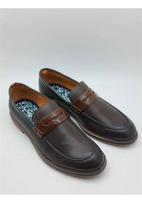 Men's Shoes Brown Leather Loafers with Band and Rubber Bottom Ambitious | Mocassins | 11464013