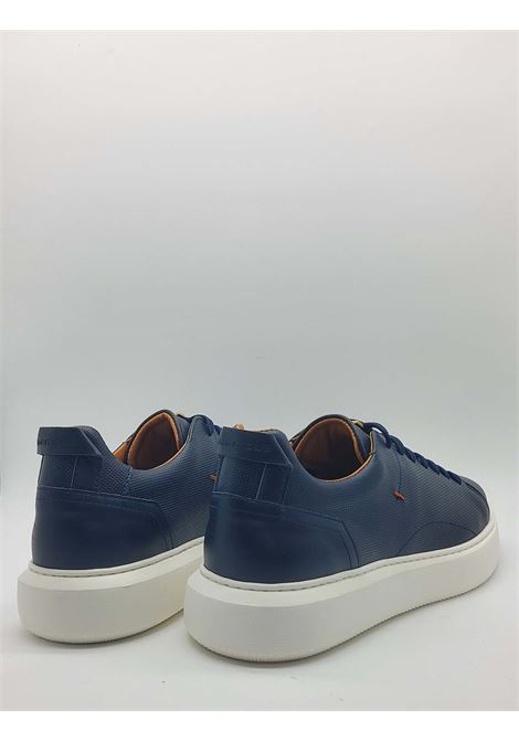 Shoes Sneakers Men Lace-up in Blue Leather and High Rubber Bottom Ambitious | Sneakers | 8231002